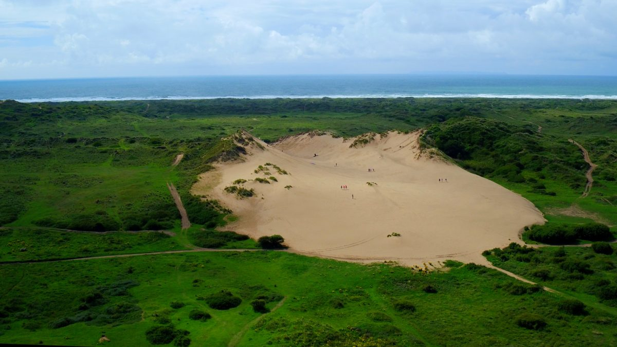Dunes where students do Sand Boarding
