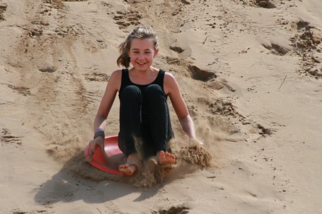 Happy Sandboarder